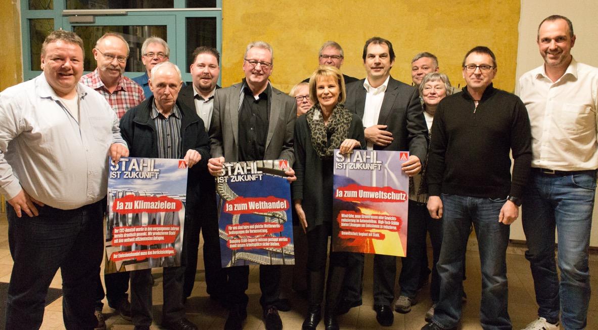 SPD Vorstand mit IG Metall Vertretung (Foto: SPD/MS)